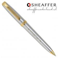 Sheaffer® Prelude® brushed chrome gold balpen